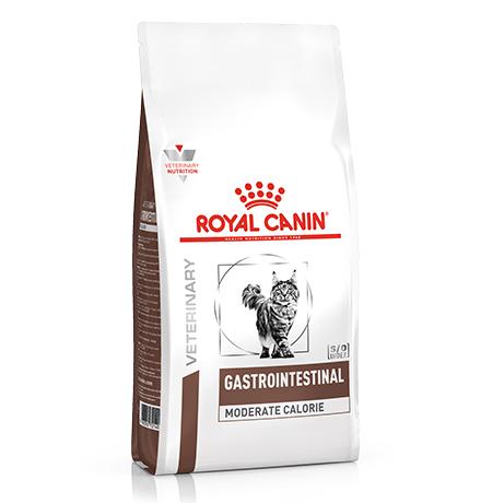 Royal Canin Gastrointestinal Moderate Calorie GIM35 / Ветеринарный сухой корм Роял Канин Гастроинтестинал Модерэйт Калори для кошек Нарушения пищеварения Низкокалорийный