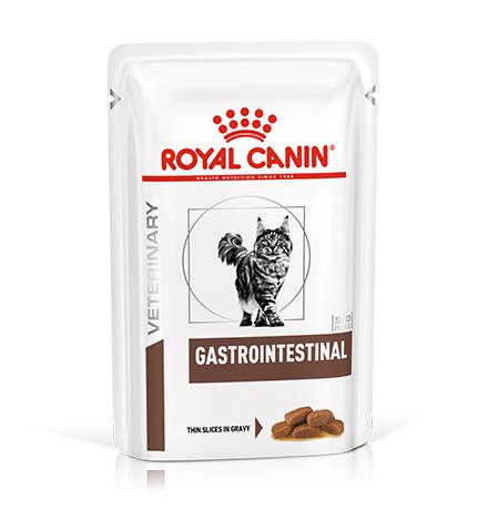 Royal Canin Gastrointestinal / Ветеринарный влажный корм (Консервы-Паучи) Роял Канин Гастроинтестинал для кошек Нарушения пищеварения (цена за упаковку)