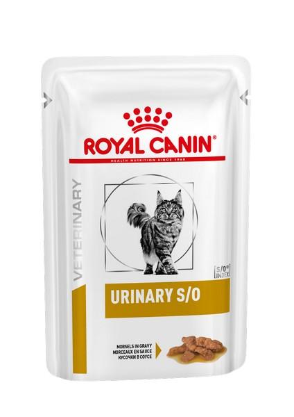Royal Canin Urinary S/O / Ветеринарный влажный корм (Консервы-Паучи) Роял Канин Уринари для кошек при заболеваниях дистального отдела мочевыделительной системы (цена за упаковку)