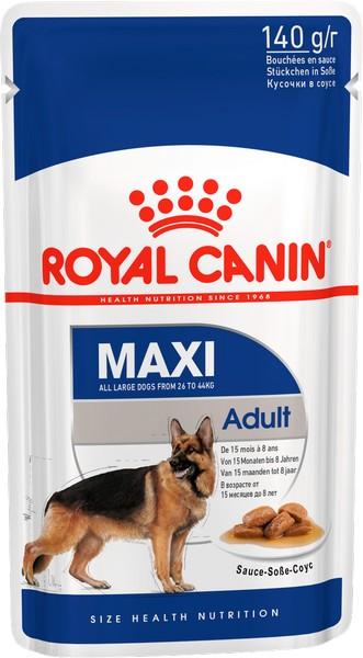 Royal Canin Maxi Adult / Влажный корм (Паучи) Роял Канин Макси Эдалт для Взрослых собак Крупных пород в возрасте от 15 месяцев до 5 лет (Цена за упаковку)