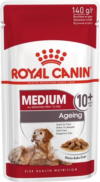 Royal Canin Medium Ageing 10+ / Влажный корм (Паучи) Роял Канин Медиум Эйджинг для Пожилых собак Средних пород старше 10 лет (Цена за упаковку)