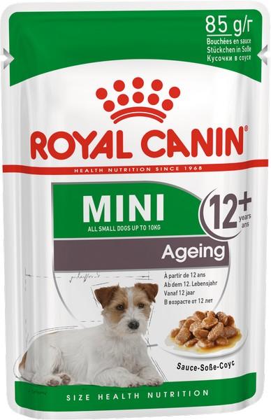 Royal Canin Mini Ageing 12+ / Влажный корм (Паучи) Роял Канин Мини Эйджинг для Пожилых собак Мелких пород весом до 10 кг старше 12 лет (Цена за упаковку)