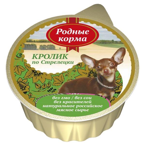 Родные Корма / Консервы для собак Кролик по-Стрелецки (цена за упаковку)