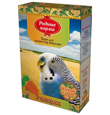 Родные Корма / Корм с Овощами для Волнистых попугаев