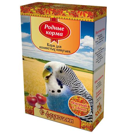 Родные Корма / Корм с Фруктами для Волнистых попугаев