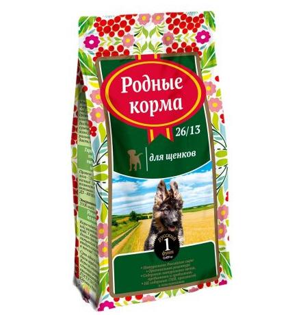 Родные Корма 26-13 / Сухой корм для Щенков