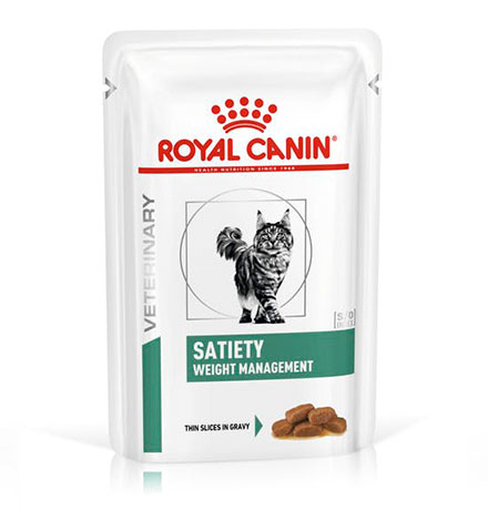 Royal Canin Satiety Weight Management SAT34 / Ветеринарный влажный корм (Консервы-Паучи) Роял Канин Сетаети Вейт Менеджмент для кошек Контроль избыточного веса