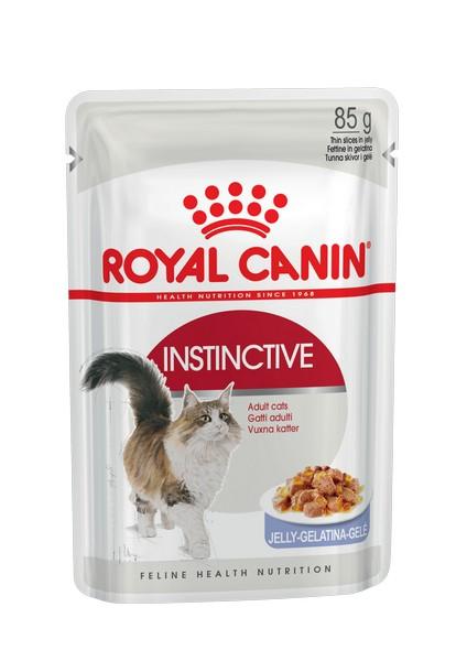 Royal Canin Instinctive Jelly / Влажный корм (Консервы-Паучи) Роял Канин Инстинктив для Взрослых кошек старше 1 года в Желе (цена за упаковку)