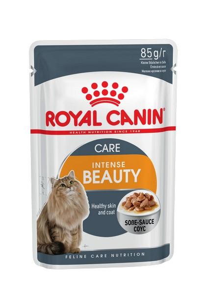 Royal Canin Intense Beauty / Влажный корм (Консервы-Паучи) Роял Канин Интенс Бьюти для кошек Красота шерсти в Соусе (цена за упаковку)