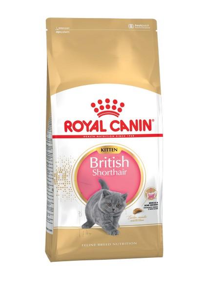 Royal Canin Breed cat Kitten British Shorthair / Сухой корм Роял Канин для Котят породы Британская короткошерстная в возрасте от 4 до 12 месяцев