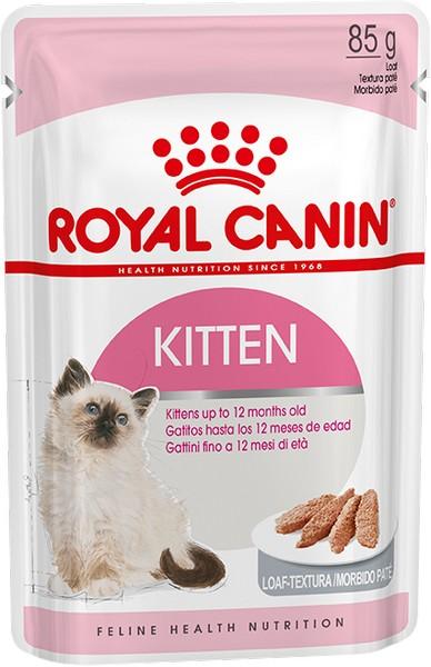 Royal Canin Kitten Instinctive Mousse Pate / Паучи Роял Канин Киттен Инстинктив для Котят в возрасте от 4 до 12 месяцев Паштет (цена за упаковку)