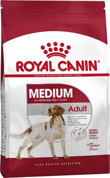 Royal Canin Medium Adult / Сухой корм Роял Канин Медиум Эдалт для Взрослых собак Средних пород в возрасте от 1 года до 7 лет