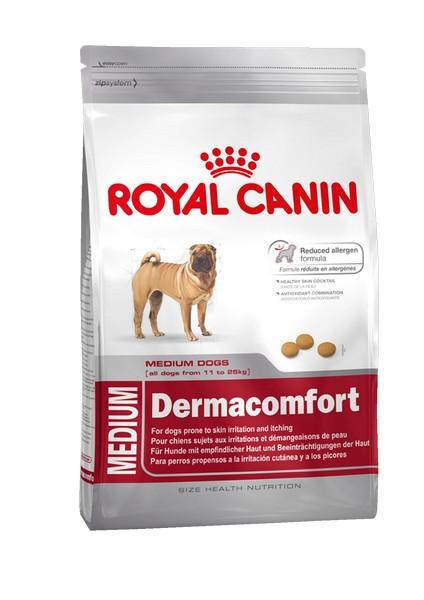 Royal Canin Medium Dermacomfort / Сухой корм Роял Канин Медиум Дермакомфорт для собак Средних пород с Кожным раздражением и зудом