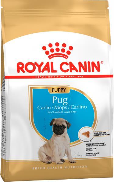 Royal Canin Breed dog Pug Junior / Сухой корм Роял Канин для Щенков породы Мопс в возрасте до 10 месяцев