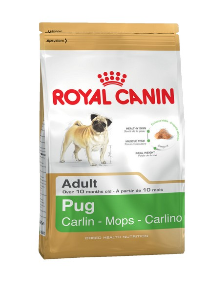 Royal Canin Breed dog Pug Adult / Сухой корм Роял Канин для взрослых собак породы Мопс старше 10 месяцев