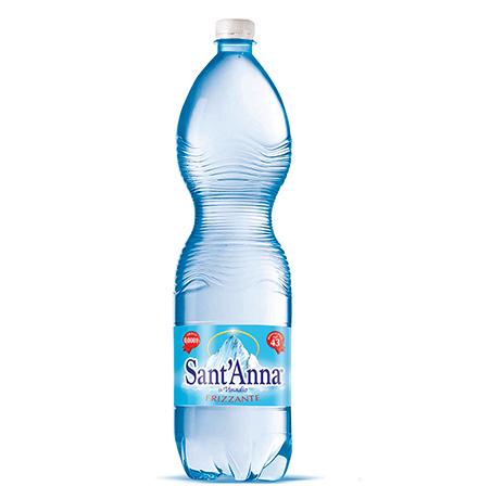 SantAnna Frizzante / Минеральная вода Санта Анна Природная питьевая столовая Газированная