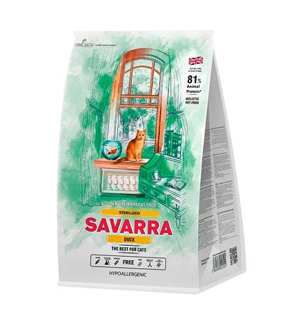 Savarra Sterilized Duck / Сухой Гипоаллергенный корм Саварра для взрослых Стерилизованных кошек Утка рис