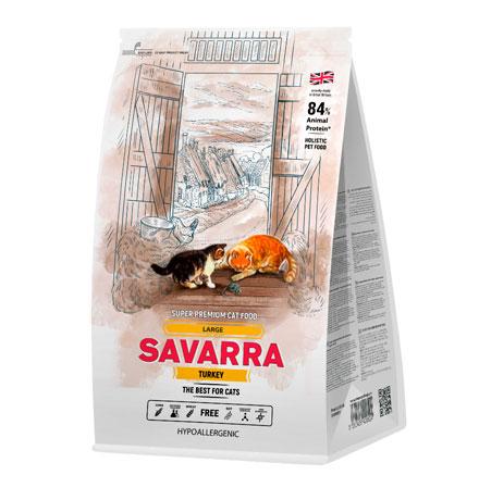 Savarra Large Turkey / Сухой Гипоаллергенный корм Саварра для взрослых кошек Крупных пород Индейка рис