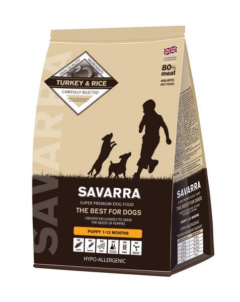 Savarra Puppy Turkey / Сухой Гипоаллергенный корм Саварра для Щенков от 1 месяца до 1 года Индейка рис
