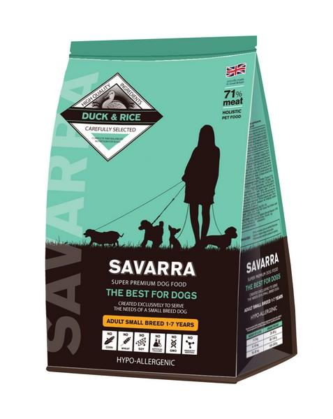 Savarra Adult Small Breed Duck / Сухой Гипоаллергенный корм Саварра для взрослых собак Мелких пород Утка рис