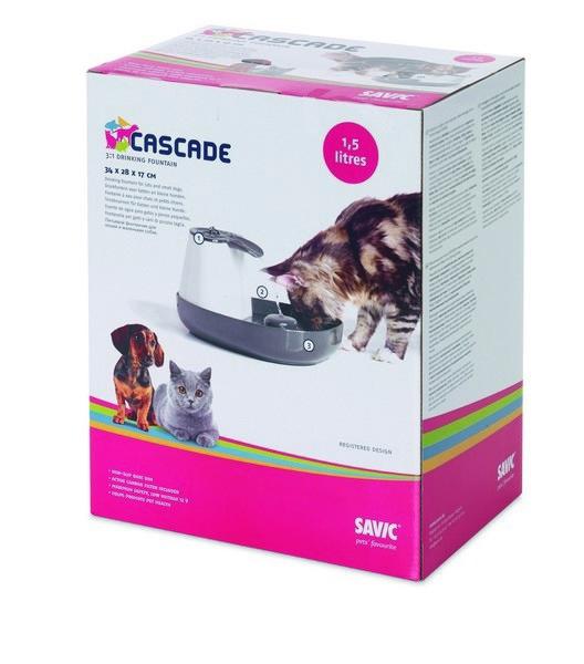 Savic Cascade / Питьевой фонтан Савик для кошек и собак Мелких пород 1,5 л