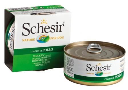 Schesir Консервы для Собак Цыпленок (цена за упаковку)