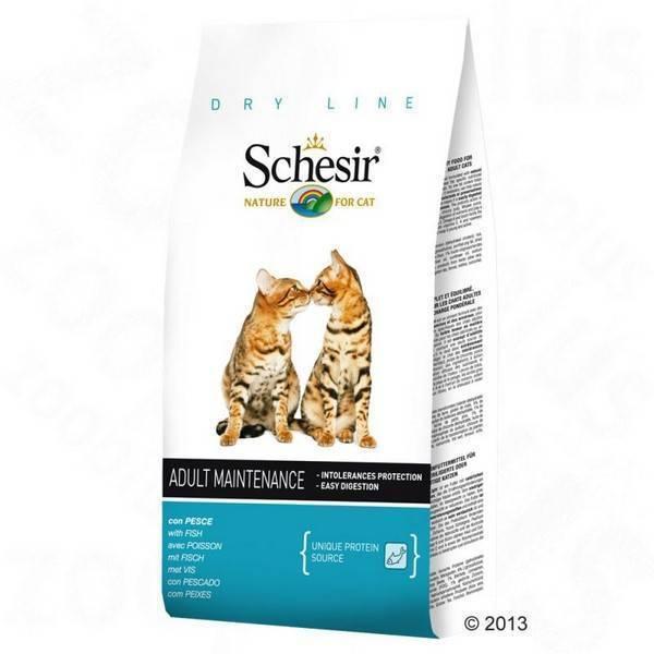 Schesir Adult Monoprotein Fish / Сухой корм Шезир Монопротеиновый для взрослых кошек Рыба