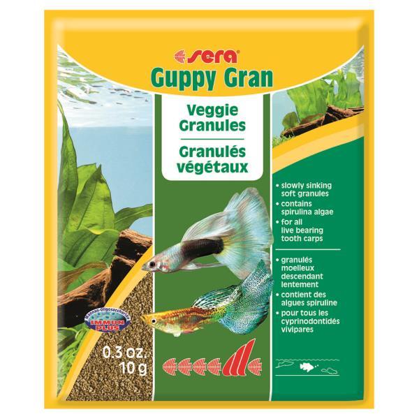 Sera Guppy gran / Корм Сера для Гуппи и подобных рыбок в гранулах
