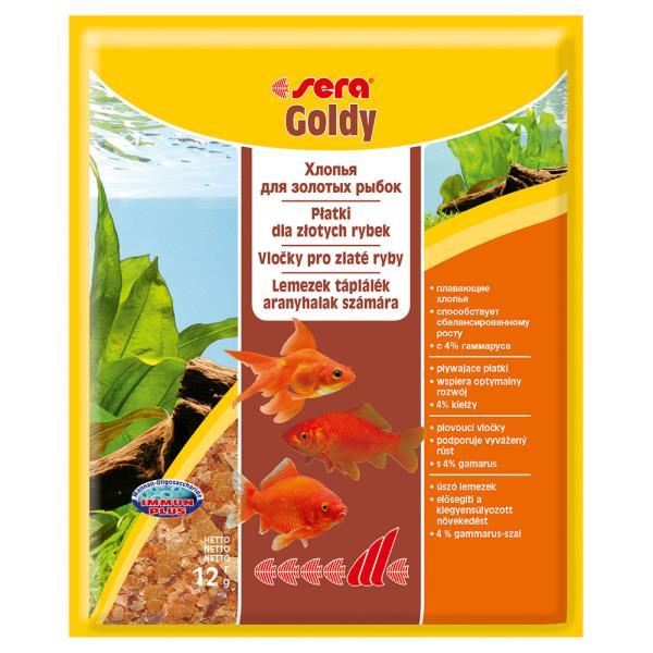 Sera Goldy / Корм Сера для Золотых рыб в хлопьях