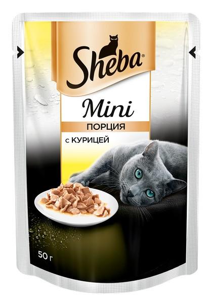 Sheba Mini / Паучи Шеба Мини порция для кошек с Курицей (цена за упаковку)