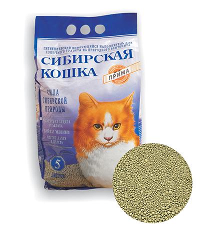 Сибирская Кошка / Наполнитель для кошачьего туалета Прима Комкующийся