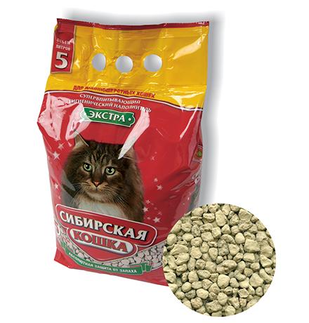 Сибирская Кошка / Наполнитель для кошачьего туалета для Длинношерстных кошек Экстра