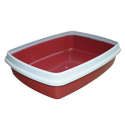 Сибирская Кошка Мяус / Туалет-лоток для кошек с Бортиком Цвета в ассортименте
