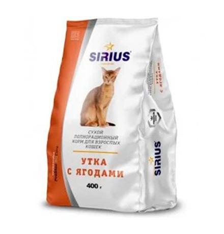 Sirius / Сухой корм Сириус для взрослых кошек Утка с ягодами