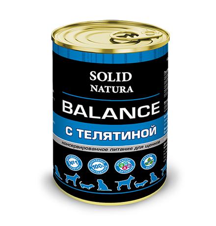 Solid Natura Balance / Консервы Солид Натура для Щенков Телятина (цена за упаковку)