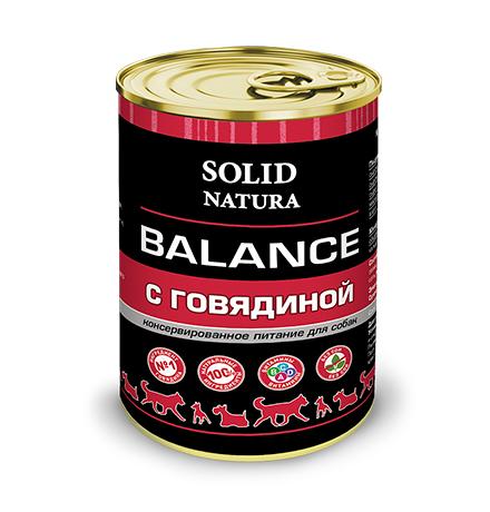 Solid Natura Balance / Консервы Солид Натура для собак Говядина (цена за упаковку)