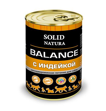 Solid Natura Balance / Консервы Солид Натура для собак Индейка (цена за упаковку)