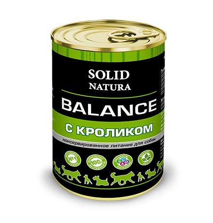 Solid Natura Balance / Консервы Солид Натура для собак Кролик (цена за упаковку)