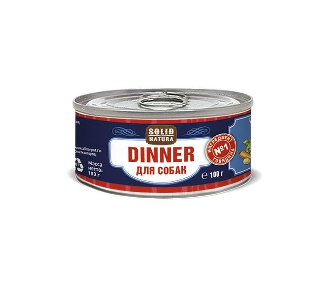 Solid Natura Dinner / Консервы Солид Натура Беззерновые для собак Говядина (цена за упаковку)