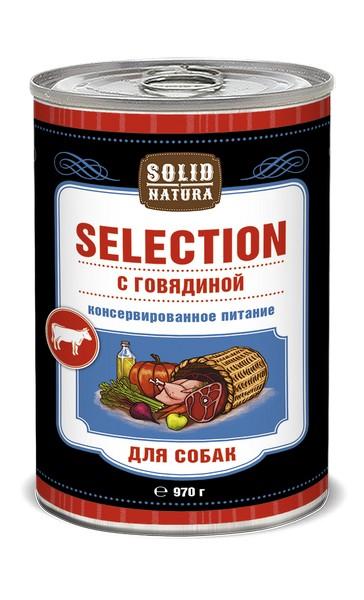 Solid Natura Selection / Консервы Солид Натура для собак Говядина (цена за упаковку)