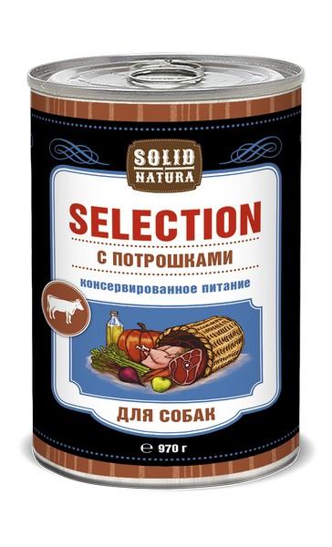 Solid Natura Selection / Консервы Солид Натура для собак Потрошки (цена за упаковку)