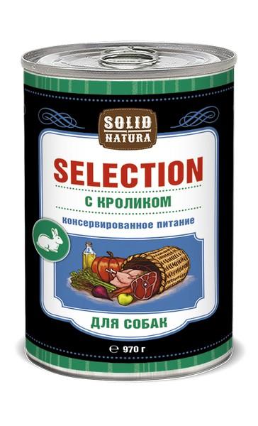 Solid Natura Selection / Консервы Солид Натура для собак Кролик (цена за упаковку)