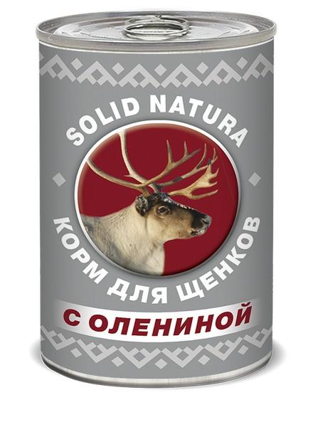 Solid Natura / Консервы Солид Натура Беззерновые для Щенков Оленина (цена за упаковку)