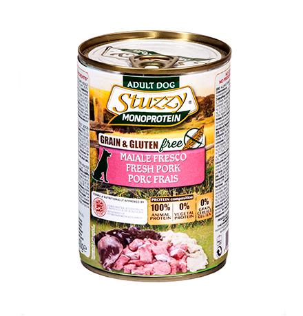 Stuzzy Monoprotein Grain & Gluten free Pork / Консервы Штуззи Монопротеиновые для собак Свежая Свинина (цена за упаковку)
