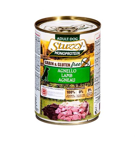 Stuzzy Monoprotein Grain & Gluten free Agnello / Консервы Штуззи Монопротеиновые для собак Ягненок (цена за упаковку)