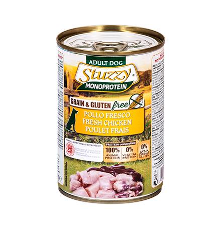Stuzzy Monoprotein Grain & Gluten free Pollo Fresco / Консервы Штуззи Монопротеиновые для собак Свежая Курица (цена за упаковку)
