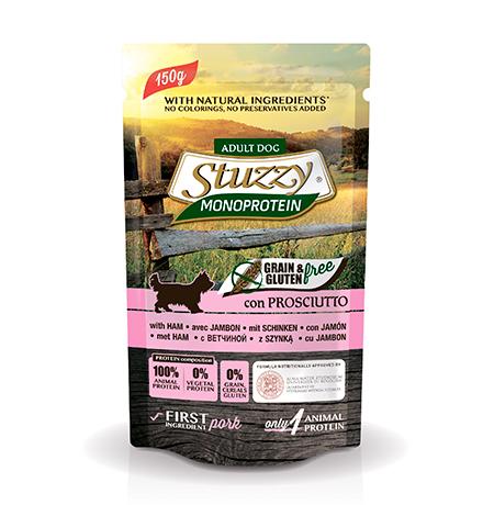 Stuzzy Monoprotein Grain & Gluten Prosciutto / Паучи Штуззи Монопротеиновые для собак Ветчина (цена за упаковку)