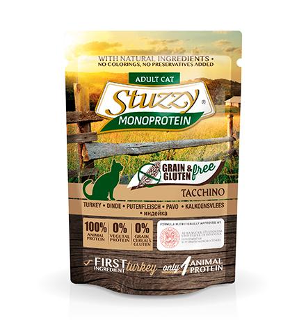 Stuzzy Monoprotein Grain & Gluten free Tacchino / Паучи Штуззи Монопротеиновые для кошек Индейка (цена за упаковку)