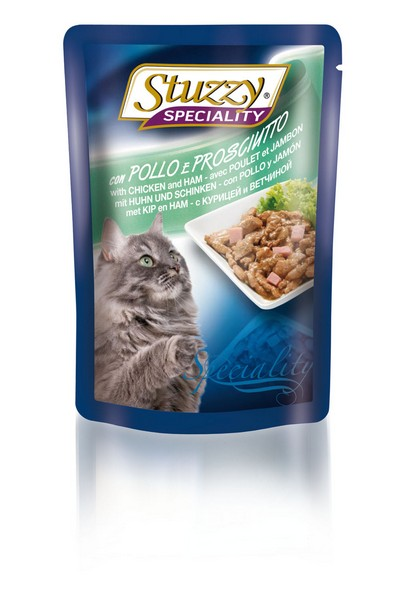 Stuzzy Speciality / Консервы Штуззи для кошек Курица с ветчиной (цена за упаковку)
