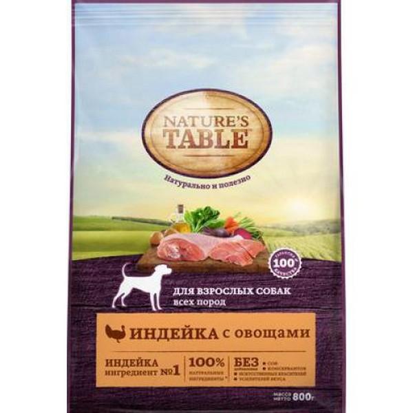 Natures Table / Сухой корм Нейчерс Тейбл для взрослых собак Индейка с овощами